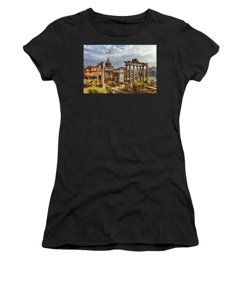 Ancient Roman Forum Ruins - Impressions Of Rome Women's T-Shirt