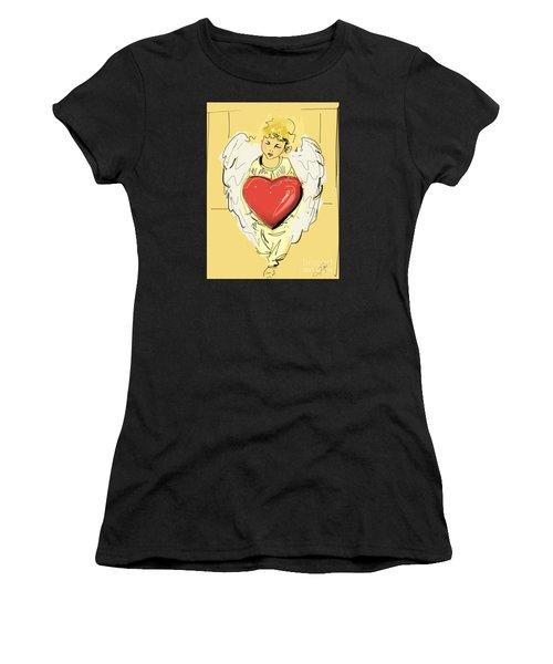 Angel Red Heart Women's T-Shirt