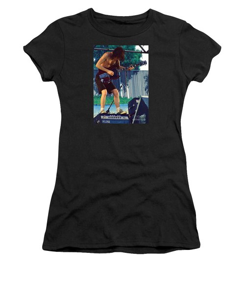 Angus Young Of A C D C At Day On The Green Monsters Of Rock Women's T-Shirt (Athletic Fit)