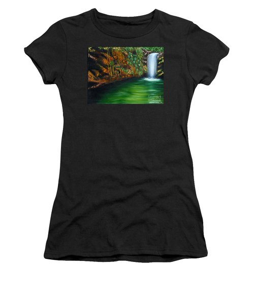Annadale Waterfall Women's T-Shirt (Junior Cut) by Laura Forde