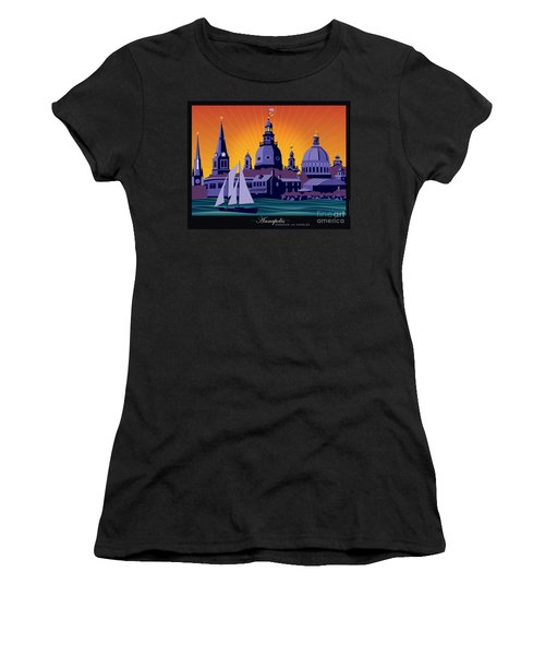 Annapolis Steeples And Cupolas Women's T-Shirt (Athletic Fit)