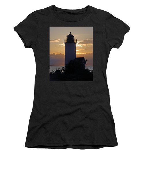 Annisquam Lighthouse Sunset Women's T-Shirt (Athletic Fit)