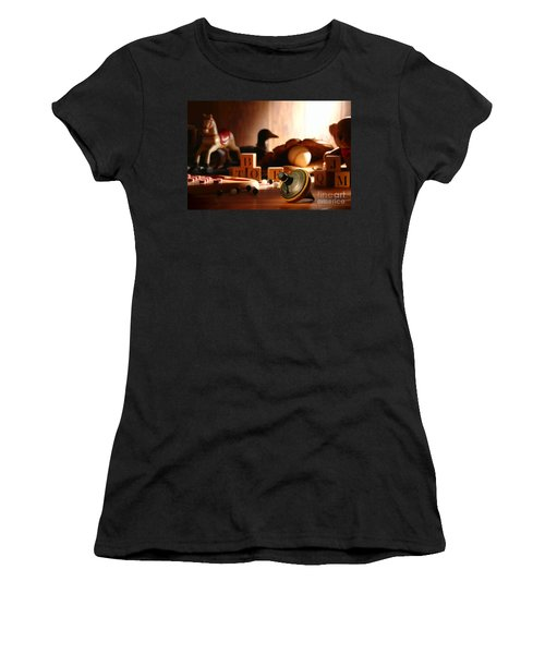 Antique Spinning Top Women's T-Shirt (Athletic Fit)