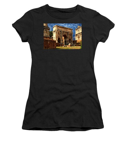 Arch Of Septimius Severus Women's T-Shirt (Junior Cut) by Anthony Dezenzio