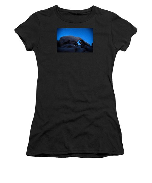 Arch Rock Starry Night 2 Women's T-Shirt (Junior Cut) by Stephen Stookey