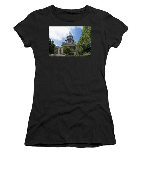 Architecture - Illinois State Capitol  - Luther Fine Art Women's T-Shirt (Athletic Fit)