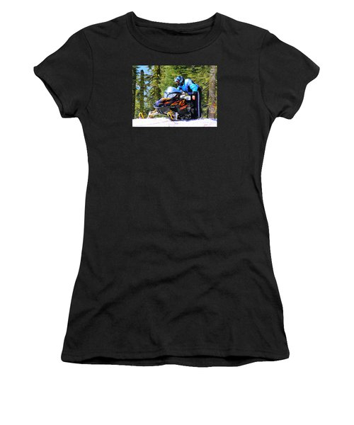 Arctic Cat Snowmobile Women's T-Shirt (Athletic Fit)