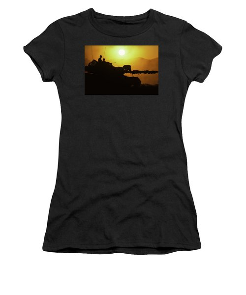 Army Tank With Camouflage In Training Women's T-Shirt