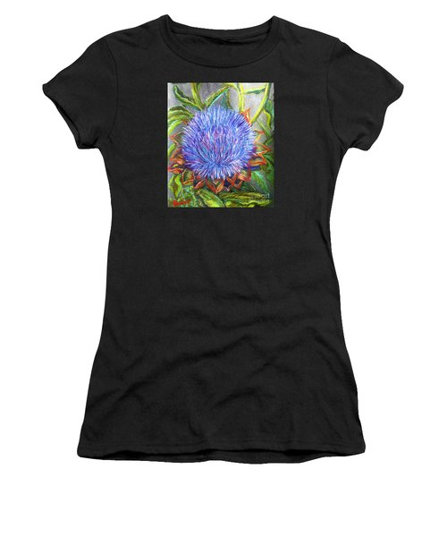 Artichoke Blossom Women's T-Shirt (Athletic Fit)