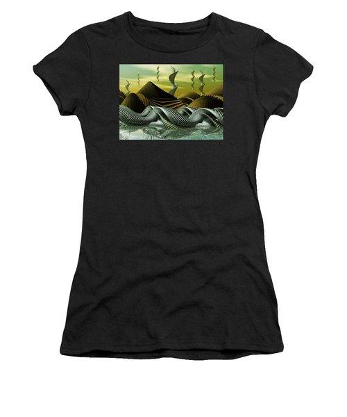 Women's T-Shirt (Junior Cut) featuring the digital art Artscape by John Alexander
