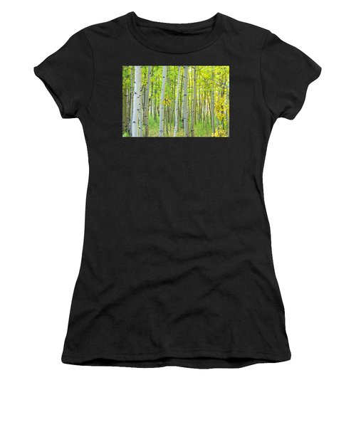 Aspen Tree Forest Autumn Time  Women's T-Shirt (Athletic Fit)