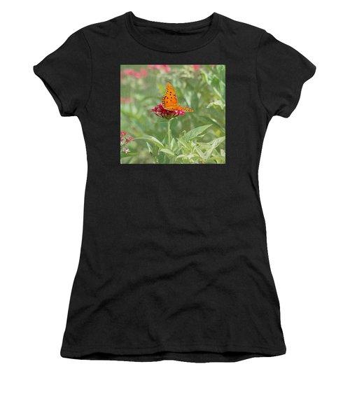 At Rest - Gulf Fritillary Butterfly Women's T-Shirt