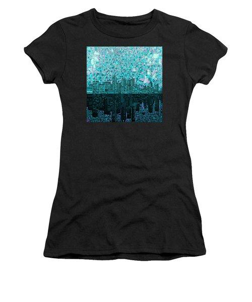 Atlanta Skyline Abstract 2 Women's T-Shirt (Junior Cut) by Bekim Art