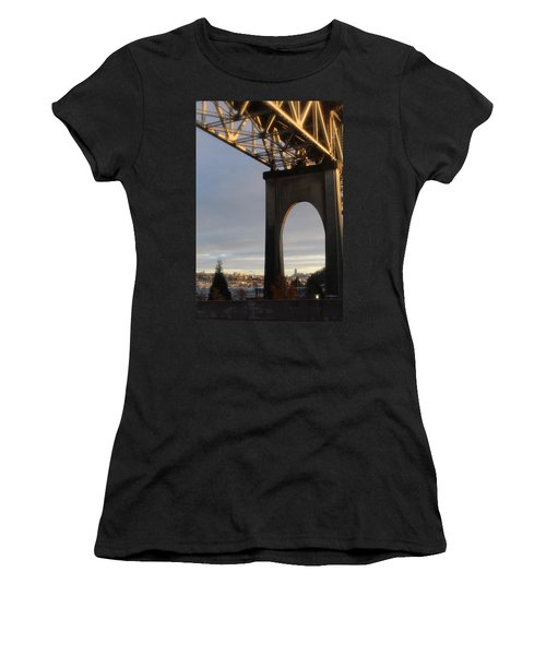 Aurora Bridge Seattle Washington  Women's T-Shirt (Athletic Fit)