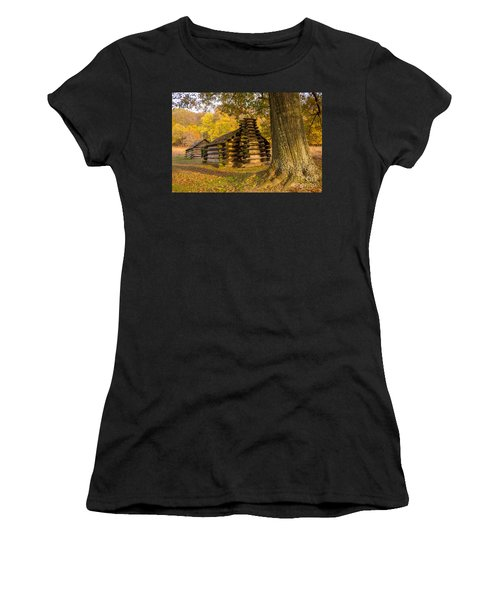 Autumn And The Huts At Valley Forge Women's T-Shirt