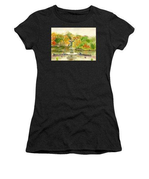 Autumn At Central Park Ny Women's T-Shirt