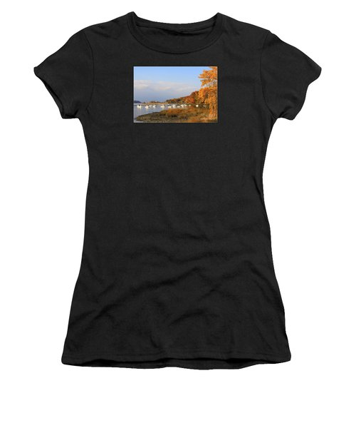 Autumn At Cold Spring Harbor Women's T-Shirt (Athletic Fit)