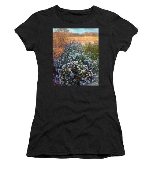 Autumn Flowers Women's T-Shirt (Athletic Fit)