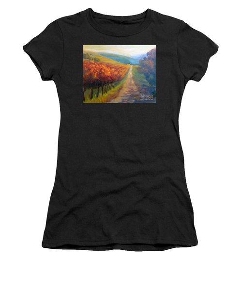 Autumn In The Vineyard Women's T-Shirt