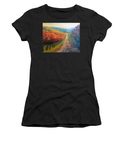 Autumn In The Vineyard Women's T-Shirt