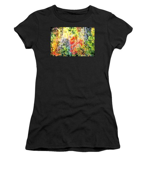 Autumn Leaves Reflected In Pond Surface Women's T-Shirt