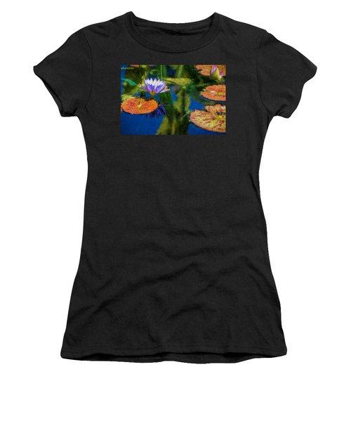 Autumn Lily Pad Impressions Women's T-Shirt