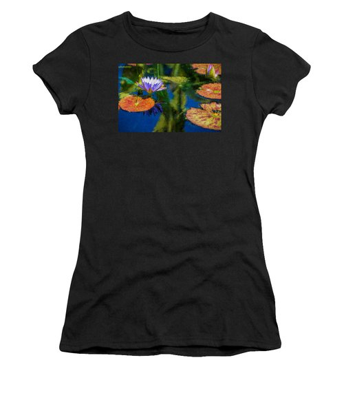 Autumn Lily Pad Impressions Women's T-Shirt (Athletic Fit)