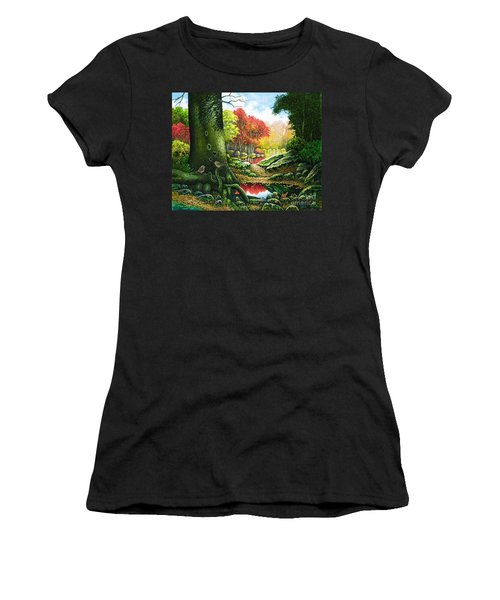 Autumn Morning In The Forest Women's T-Shirt (Athletic Fit)