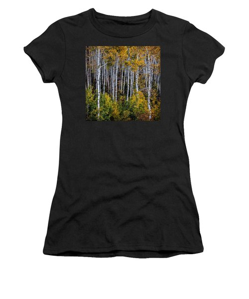 Women's T-Shirt (Junior Cut) featuring the photograph Autumn On Mcclure Pass by Ken Smith