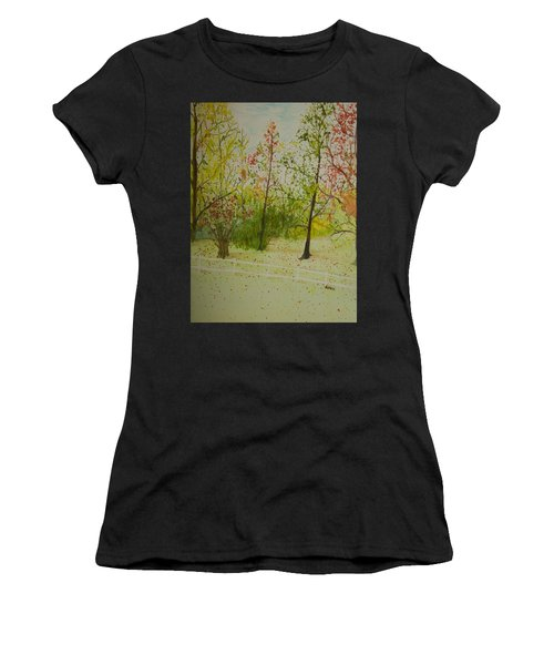 Autumn Scenery Women's T-Shirt (Athletic Fit)