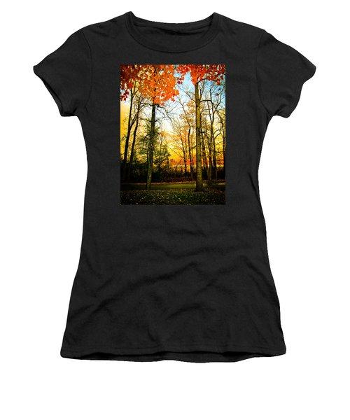 Autumn Sunset  Women's T-Shirt (Junior Cut) by Sara Frank