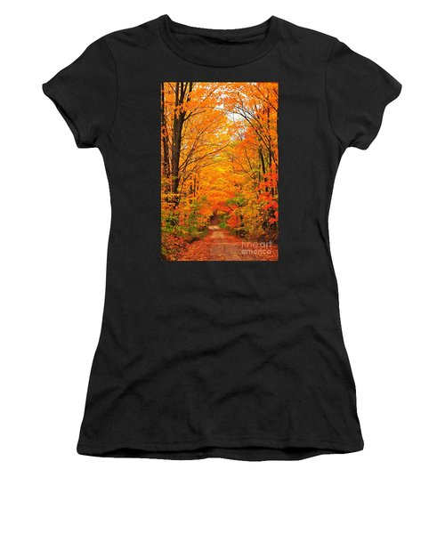 Autumn Tunnel Of Trees Women's T-Shirt (Athletic Fit)