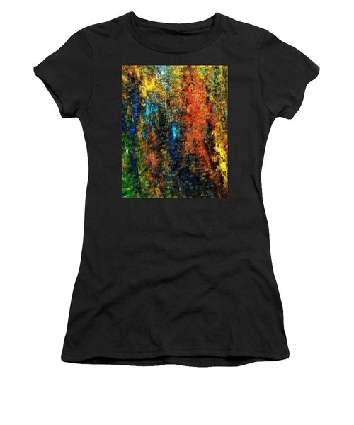 Women's T-Shirt (Junior Cut) featuring the digital art Autumn Visions Remembered by David Lane