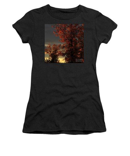 Autumn's First Light Women's T-Shirt (Junior Cut) by James Eddy