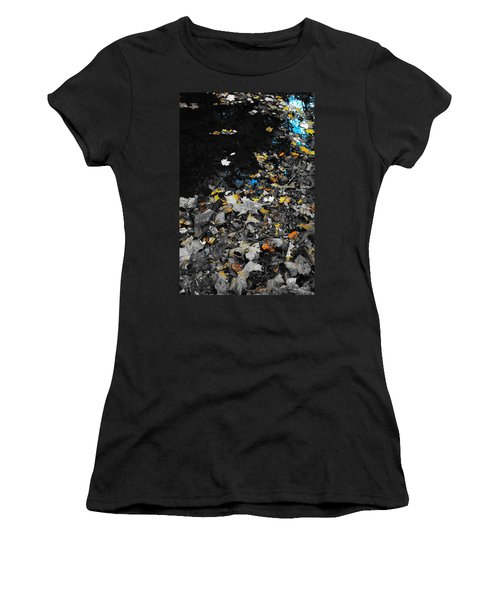 Women's T-Shirt (Junior Cut) featuring the photograph Autumn's Last Color by Photographic Arts And Design Studio