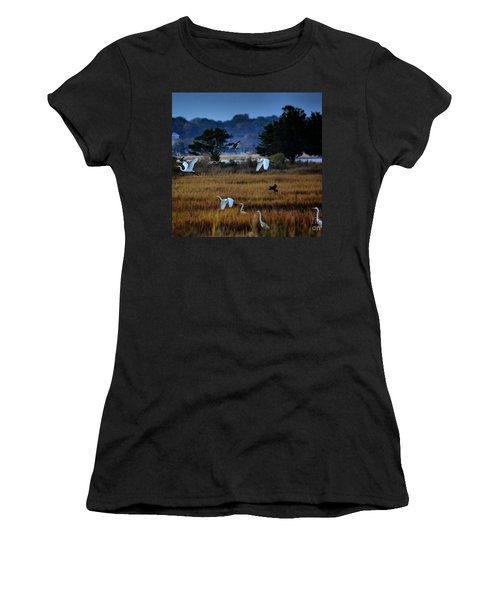 Aviary Convention Women's T-Shirt (Junior Cut) by Robert McCubbin