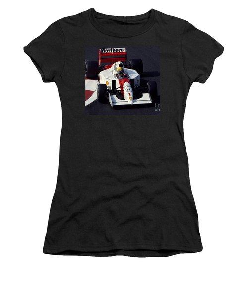 Ayrton Senna. 1992 French Grand Prix Women's T-Shirt (Athletic Fit)