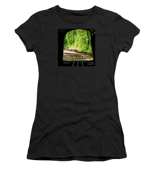 Women's T-Shirt (Junior Cut) featuring the photograph Back Tracking by Joy Hardee