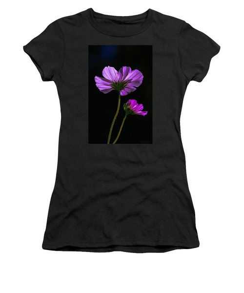 Women's T-Shirt (Junior Cut) featuring the photograph Backlit Blossoms by Marty Saccone