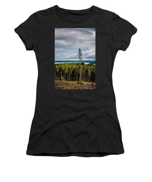 Logging Road Ocean View  Women's T-Shirt