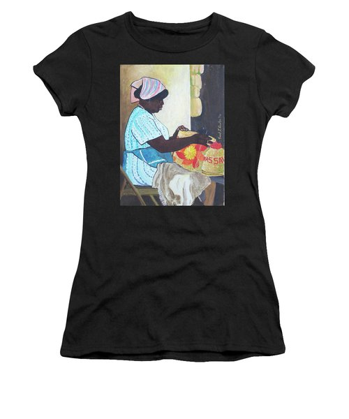 Bahamian Woman Weaving Women's T-Shirt