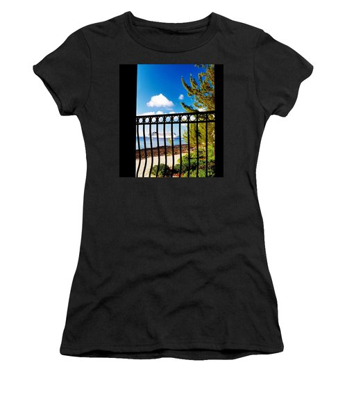 Women's T-Shirt (Junior Cut) featuring the photograph Balcony Scene by Amar Sheow