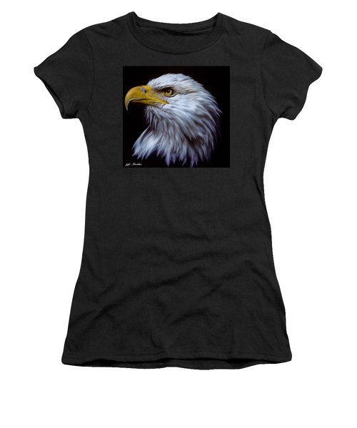 Women's T-Shirt (Junior Cut) featuring the photograph Bald Eagle by Jeff Goulden