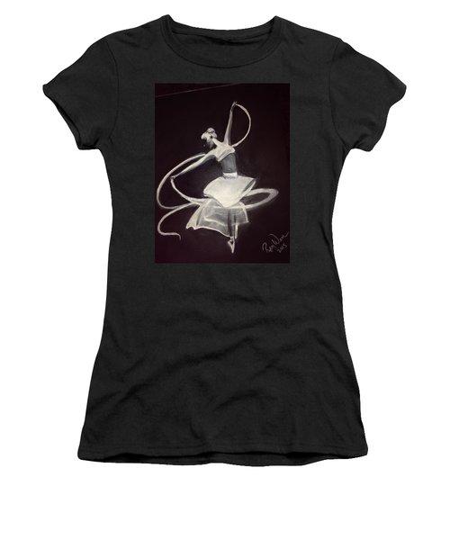 Ballerina Women's T-Shirt (Junior Cut) by Renee Michelle Wenker