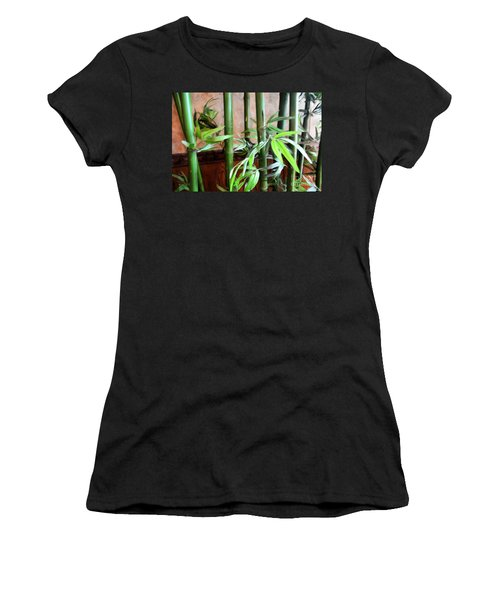 Women's T-Shirt (Junior Cut) featuring the photograph Plant -  Bamboo  -  Luther Fine Art by Luther Fine Art