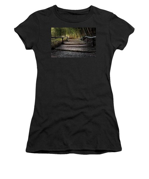 Bamboo Garden Women's T-Shirt (Athletic Fit)
