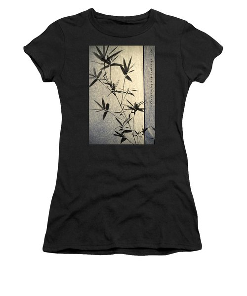 Bamboo Leaves Women's T-Shirt (Athletic Fit)
