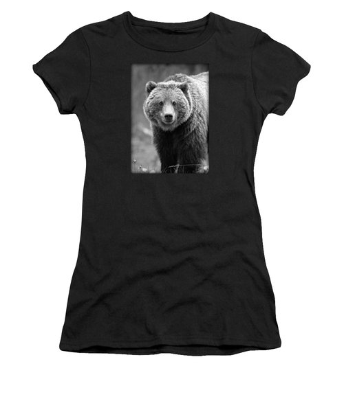 Banff Grizzly In Black And White Women's T-Shirt