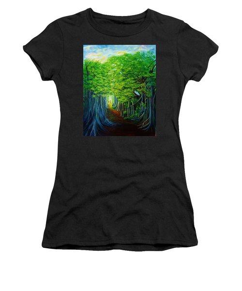 Banyan Walk Women's T-Shirt (Athletic Fit)