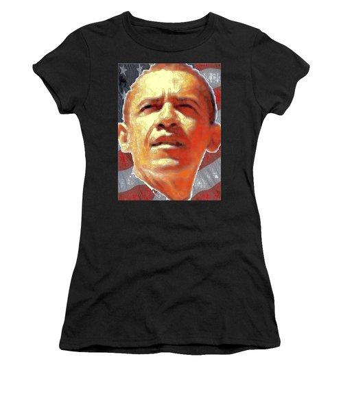 Barack Obama Portrait - American President 2008-2016 Women's T-Shirt